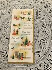 Vintage Greeting Card Christmas carriage Tree People