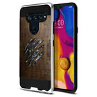"""For LG V40 ThinQ 6.4"""" Shockproof Brushed Hybrid Protector Cover Case"""