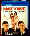"""Mike and Dave Need Wedding Dates """" Blu-Ray Movie Disc, Blu-ray Case and Artwork"""