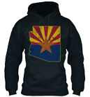 Trendsetting State Outline Flag Of Arizona Standard Standard College Hoodie