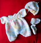 """Doll Clothes Handknitted  3 pc Set for 11"""" Berenguer 12"""" baby Premie Corolle"""