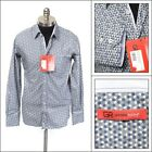 $178 NWT GEORG ROTH Gray Polka Dot Cotton Button Down Collar Sport Shirt L