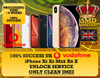 UK ENGLAND VODAFONE UNLOCK SERVICE FOR IPHONE XS XS MAX XSMAX XR X 8 UNLOCKING