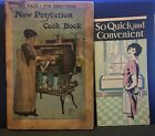 New Perfection Oil Stove Catalog - COOK BOOK + Nesco Stove Ad 1916 Heavily Used