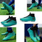 Men's Soccer Shoes Cleats Football Trainers Sports Athletic Boots High Ankle Top