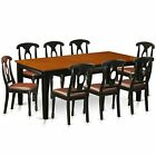 East West Furniture QUKE9-BCH-LC 9 Piece Table and 8 Chairs Kitchen Nook Set