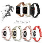 Leather Band Wrist Strap Watch Replacement for Apple iWatch Series 4 3 2 1 image