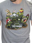 Harley-Davidson Looney Tunes Mens WW2 Army Short Sleeve Ash Grey Biker T-Shirt $12.99 USD on eBay