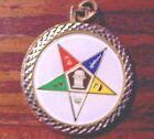 EASTERN STAR MASONIC PENDENT ~VINTAGE~GOLD TONE REPLICA COIN 1776 ON BACK~