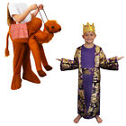 CHILD CAMEL PICK ME UP COSTUME PURPLE WISE KING NATIVITY CHRISTMAS FANCY DRESS
