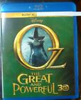 "Oz Great and Powerful "" 3D Blu-Ray Movie Disc, Blu-ray Case and Artwork"