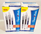 PAPER MATE PM880 Spring Ball Box 12 Gel Writing Pens Blue Ink 0.7mm BRAND NEW