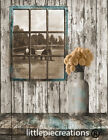 Rustic Farmhouse Country Kitchen Home Decor Wall Art Matted Picture