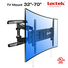 "Loctek 18.8"" Long Extension Curved TV Wall Mount Bracket for 32-70 inch Both and"
