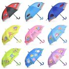 Kids Children Lightweight Portable Hook Handle Umbrella for Rainy School Days