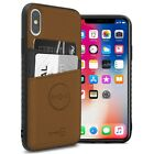 Brown Fabric Credit Card Holder Phone Case for Apple iPhone XS Max / 10S Max