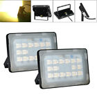 2X 50W LED Flood Light Warm White Lamp Outdoor Security Spot Lighting 110V IP65