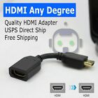HDMI 90 Right Left Any L Shape Angle Degree Micro Connector Cable Male to Female