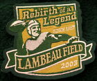 GREEN BAY PACKERS NATIONAL EMBLEM REBIRTH OF A LEGEND LAMBEAU FIELD PATCH NEW