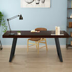 """55"""" Vintage Industrial Home Office Study Table Rustic Solid Wood Computer Desk"""