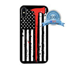 Thin Red Line Firefighter Case For iPhone 5 SE 6s 7 8 Plus X XR XS MAX US Flag