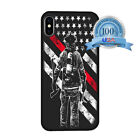 Firefighter Thin Red Line Case Cover For iPhone 5 SE 6s 7 8 Plus X XR XS MAX
