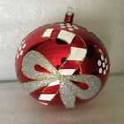 "6"" Hand Blown & Painted Glass Christmas Ornament"