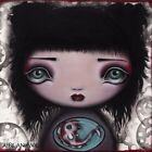 Yuri by Abril Andrade Gothic Child with Fish Portrait Framed Wall Art Print