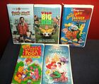 5 Children's VHS Tapes Disney & WB inc: The Litle Mermaid, Winnie The Pooh ++