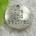 Free Ship 60 pcs tibet silve love and beloved charms 20mm #1739