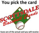 1956 Topps Baseball # 296-319 Pick Your Card - Each Card Scanned Front & Back