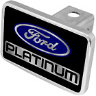 Ford Platinum Logo Premium XL Polished Hitch Cover Tow Plug Official Licensed