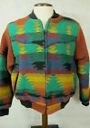 VINTAGE Pioneer Wear Colorful Native American Design Western Heavy Jacket L