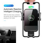 1X Automatic Intelligent Qi Wireless Car Fast Charger Mount Bracket For Iphone X