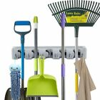 Mop and Broom Holder Wall Mount Broom Organizer Cleaning Hooks Hanger