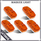 """5Pcs 4"""" Amber Side Marker Clearance Light Roof 10 LED Tailer Truck Pickup Lamps"""