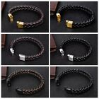 Fashion Black Braided Leather Bracelet Jewelry Bangle Accessories Gifts
