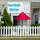 Vinyl Banner Sign Ice Cold Water #1  Style B Marketing Advertising Aqua-Blue $164.99 USD on eBay