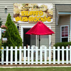 Vinyl Banner Sign Super Duper Stuffed Mushrooms Marketing Advertising brown