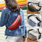 Women Waist Fanny Pack PU Leather Belt Zipper Waist Bag Casual Chest Bag