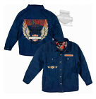 Harley-Davidson Boys Youth Winged B&S Quilted Denim Long Sleeve Shirt Jacket $14.99 USD on eBay