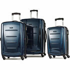 New 3Pcs Fashion Travel Set w/TSA Lock ABS Trolley Spinner Carry On Suitcase A7