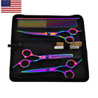 Salon Hair Cutting Professional Thinning Barber Shears Scissors Hairdressing Set