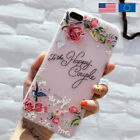 Flower Silicon Phone Case For iPhone 8 Rose Floral Cases For iPhone