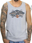 Harley-Davidson Mens Garage B&S Logo Grey Sleeveless Tank Knucklehead $14.99 USD on eBay