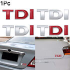 Styling Tdi Emblem Badge Trunk Lid  Vehicle Tailgate  Car Sticker 3d Auto Decal