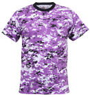 Camo T-shirt Ultra Violet Digital Camouflage Cotton Polyester Blend Rothco 5685