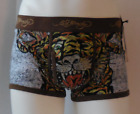 Ed Hardy Men's Trunk Tiger Tattoo Print Premium Cotton Stretch Trunks