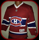 MONTREAL CANADIANS REEBOK YOUTH S/M REPLICA VNECK HOCKEY JERSEY FREE SHIPPING
