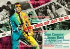 "DR. NO 1962 = James Bond 007 SECRET AGENT Germany = POSTER 7 SIZES 19"" - 36"" $68.88 CAD on eBay"